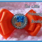 Orange & Blue Butterfly Bow