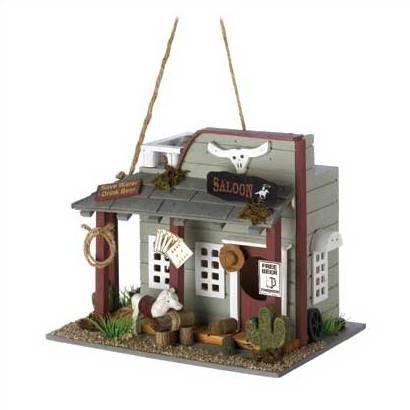 Western Style Wild Horse Saloon Birdhouse Bird House