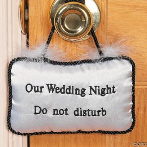 "SATIN ""WEDDING NIGHT"" PILLOW IN-26/2237"
