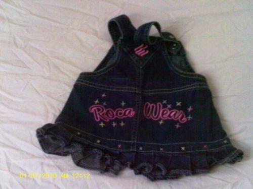 Girl jean dress Roca Wear Sleeveless 6/9 mos.
