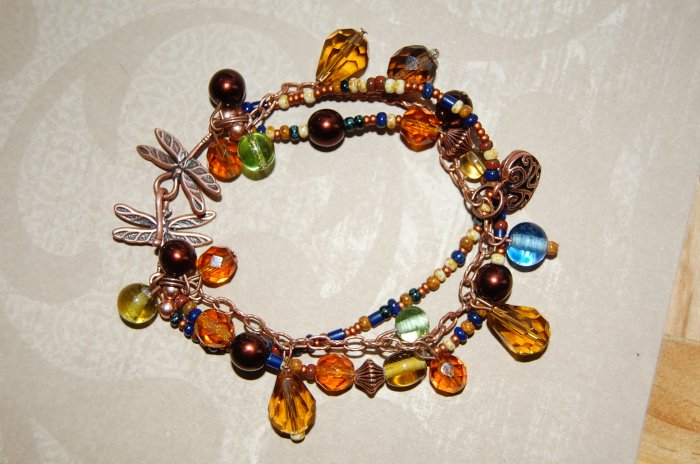 Three Strand Dragon Fly Bracelet