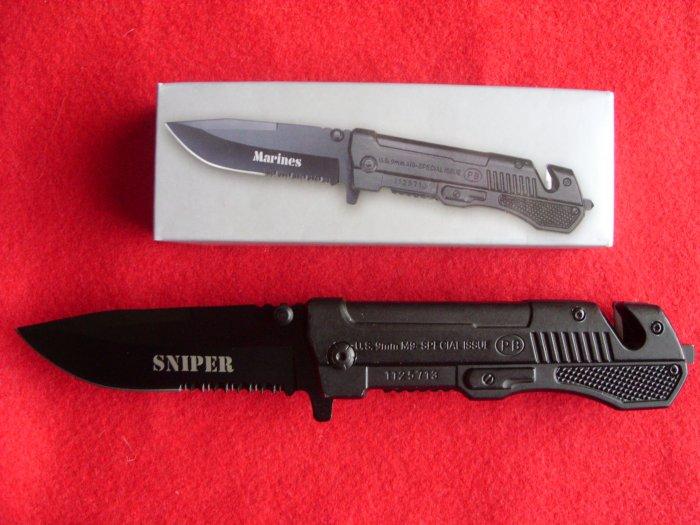 Sniper Assisted Open Knife 9MM Pistol
