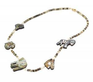 "Lee Sands Animal Safari Inlay 26"" Necklace"