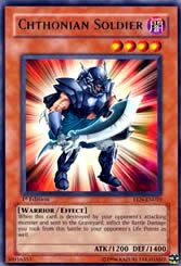 Yu-Gi-Oh Rare Chthonian Soldier