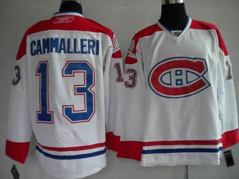 100 th patch Montreal Canadiens #13 Mike Cammalleri hockey Jersey nhl jerseys white