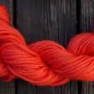 100%  wool yarn, worsted wt, orange  1 skein