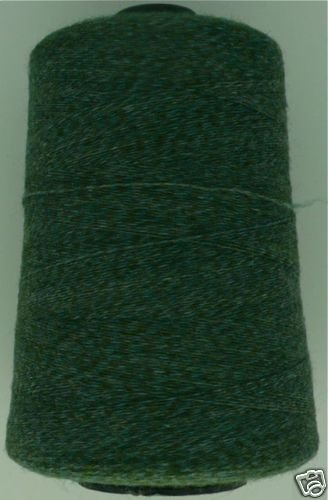 cashmere wool  blend yarn 24 S/2 lace wt, green/olive