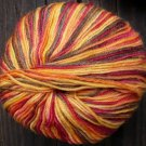 Pure wool yarn Fingering red cherry brown orange 1.7 oz