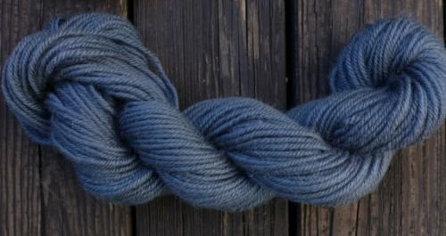 100%  wool yarn, worsted wt, gray,   1 skein