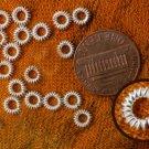 20 sterling silver fancy jump ring, closed, twist 6mm