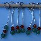 Stitch marker, knitting 6+1  , stone