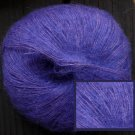 mohair acrylc lace weight yarn, vivid iris, 165 yards