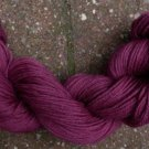 100%  wool yarn, sport weight, berry,  1 skein