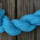 100%  wool yarn, worsted weight, teal,  1 skein