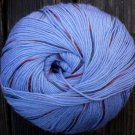 Pure wool yarn Fingering wt, blue brick green,  3.4 oz