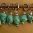 Stitch marker, knitting 6+1  , green turquoise