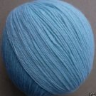 Cashmere wool blend yarn, Fingering weight,  pale blue