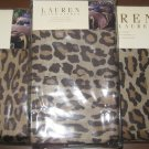 Ralph Lauren Aragon New Bohemian Leopard Queen Flat Sheet New