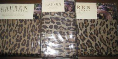 Ralph Lauren Aragon New Bohemian Leopard Queen Flat Sheet New