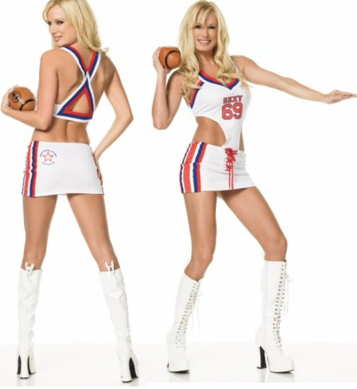 0617L-83062  2 Piece Football Girl Costume