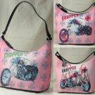 0629HB-PB2046  Petite Bucket Handbags with Front Motorcycle Design