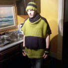 Hooded Poncho With Pouch
