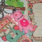 Kawaii Cabochon handmade necklace pink bear with bling and memos # B10
