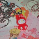Kawaii cabochon handmeade necklace red hello kitty in bunny suit plus free memos #B20
