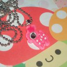 Kawaii cabochon handmade necklace dark pink deer plus free memos #B31