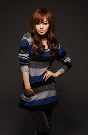 Big Stripes Long Sleeve Sweater: Melanie