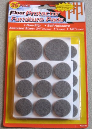 35 Felt Floor Protector Pads for Furniture, Tables & Chairs