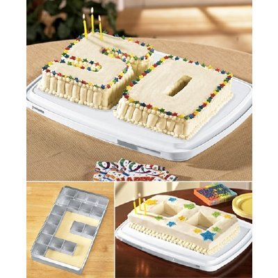 2 Custom Alphabet Cake Pans-Letter Number Birthday Baking