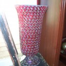 Red multi glass vase