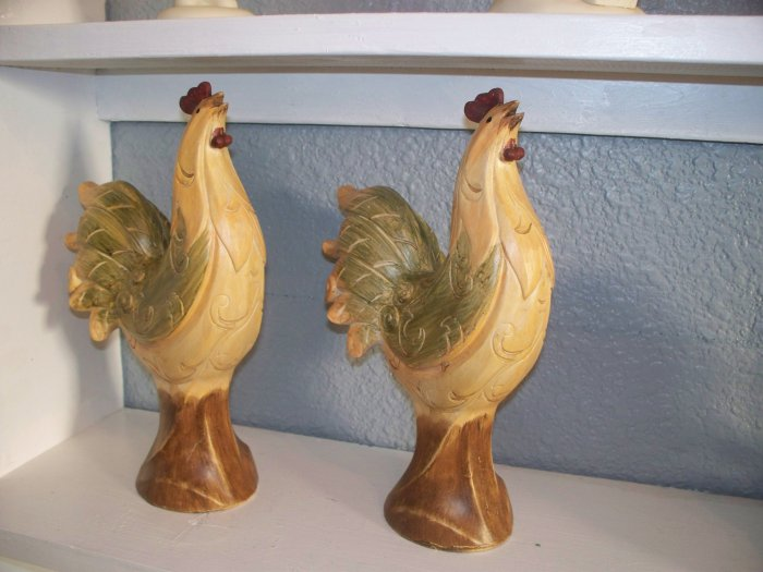 Pair of Rooster