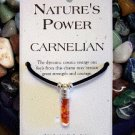 Carnelian Pendant for Strength and Courage