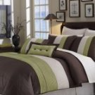 8pc Bed-in-a Bag  Rgt Chocolate/Green Bedding  Set!!!
