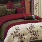7pc Pasadena Burgundy Luxury Beding Set!!!!