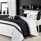 12pc Nori Black/White Luxury Bedding Set