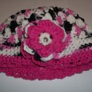 Verigated Pink Toddler cotton crochet hat
