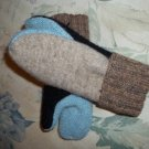 Tri Color Childs Mittens