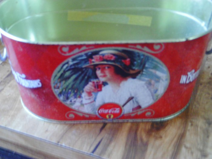 Coca Cola Planter Tin