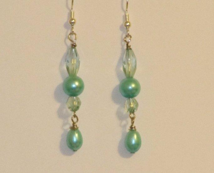 Aqua Blue Glass Bead Dangles