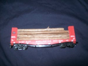 BURLINGTON CB&O 95126 LOG CAR HO MODEL TRAIN