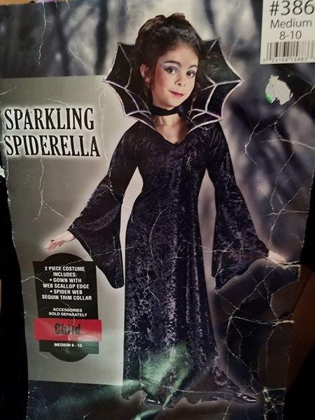 Sparkling Spiderella Costume girls 8/10