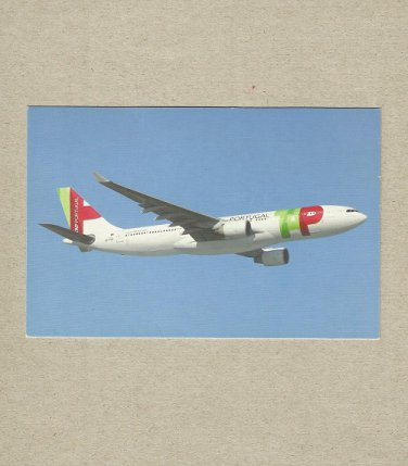 TAP PORTUGAL AIRLINE AIRBUS A330-200 ADVERTISING POSTCARD