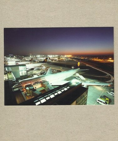 LUFTHANSA AIRLINE AIRCRAFT FLEET FRANKFURT AIRPORT POSTCARD 2007