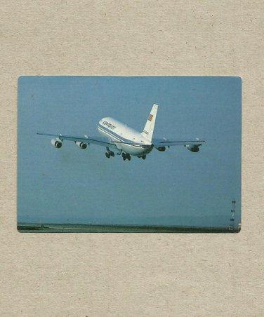 AEROFLOT AIRLINER TAKE OFF 1991 RUSSIAN LANGUAGE CREDIT CARD SIZE POCKET CALENDAR