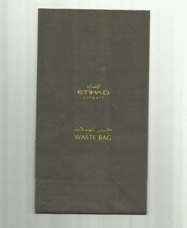 ETIHAD AIRWAYS AIR SICKNESS BAG BARF WASTE BAG