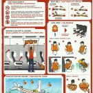 AIRASIA AIR ASIA MALAYSIAN AIRLINE AIRBUS A320-200 AIRLINE SAFETY CARD