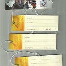 AIR INDIA FOUR NEW AND PERFECT LUGGAGE TAG CARDS